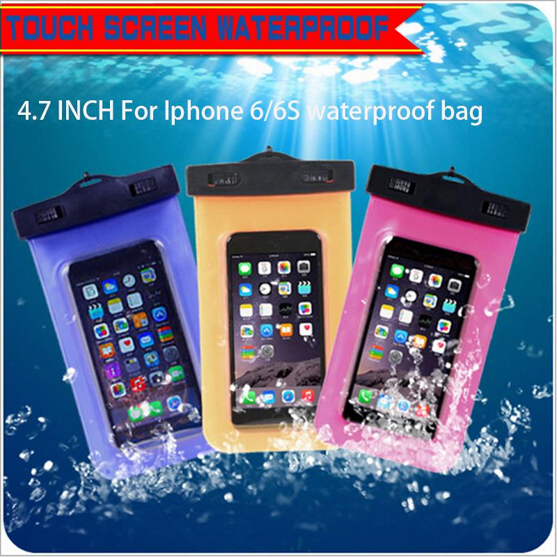 High touch Waterproof bag for Iphone 4/4s/5/5s/6/6s plus accessories waterproof case for smartphone for samsung galaxy s6 edge