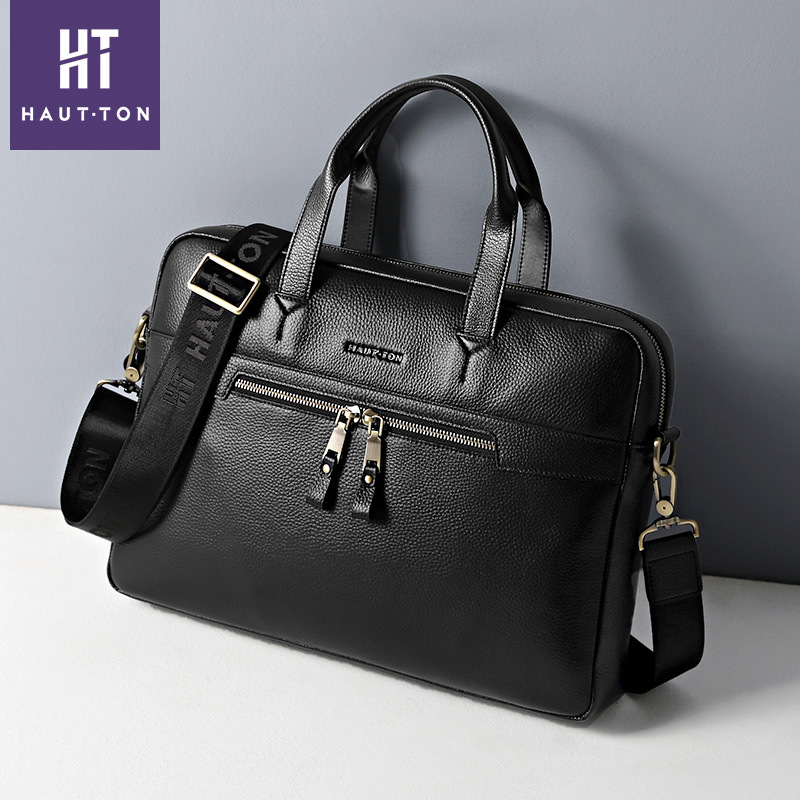 2019 New Mens Briefcase Genuine Leather Male Bags High Quality Fashion Laptop Briefcase Bag Large Shoulder Bag For Men Totes2019 New Mens Briefcase Genuine Leather Male Bags High Quality Fashion Laptop Briefcase Bag Large Shoulder Bag For Men Totes