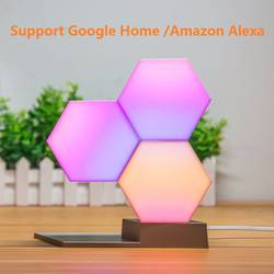 Lifesmart 3 шт. DIY Quantum Огни Творческий Геометрия сборки светодиодный ночник Smart управление для Google дома Amazon Alexa лампа