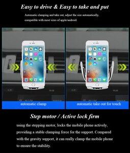Image 5 - Inteligentny czujnik S5 uchwyt samochodowy Auto zacisk bezprzewodowa ładowarka dla iphoneX XS XR Samsung Note9 S10 S9 Qi 10W szybka ładowarka