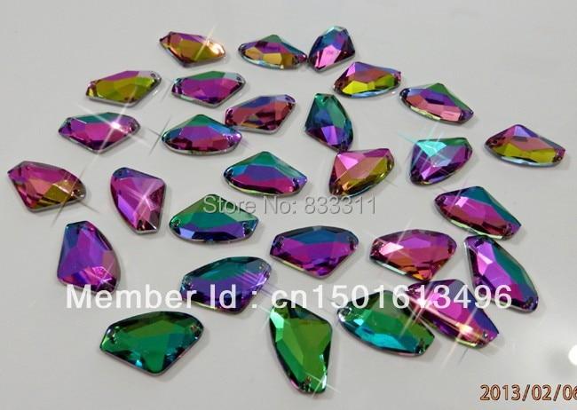Duża promocja fantastyczna 14x19mm akryl 150 sztuk szyć na kryształ wielobarwne Galactic kształt YFS-W-1419 darmowa wysyłka kamienie Strass