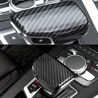 Car Accessories High quality ABS Gear Shift Knob head for Audi A5 Q7 A4 A6 Q5 Auto Handle covers Carbon fiber interior Styling