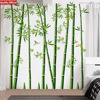large Fresh green bamboo pattern living room shop kids rom decoration wall stickers TV background wall bedroom stickers