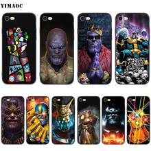 Yimaoc thanos marvel caso de silicone macio para iphone 11 pro xs max xr x 8 7 6 s mais 5 5S se(China)