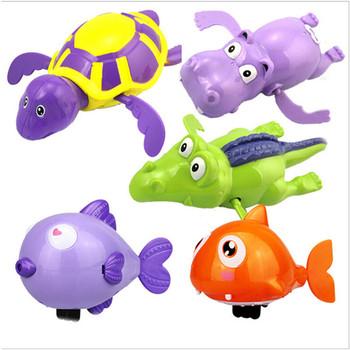 1pc losowy kolor zabawki do kąpieli nowe zwierzę żółw delfin Baby Shower Baby Swim zagraj w zabawki akcesoria do basenów Baby Play w wodzie tanie i dobre opinie LAIMALA CN (pochodzenie) Z tworzywa sztucznego Baby bath toy fish NOT EAT Mechaniczna dabbling zabawki Unisex 2-4 lat Swimming Water Toys