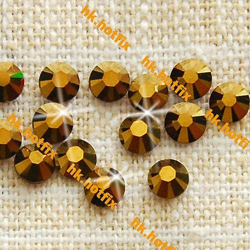 GENUINE Swarovski Elements ss20 Dorado Crystal ( 405 DOR ) 288 pcs. Iron On  Hotfix 5aaa19d8b739