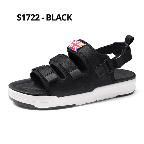 SUROM Summer Beach Flats Sandals Men Shoes Casual Outdoor Fashion Comfortable Lightweight Gladiator Sandals for Men Black New Islamabad