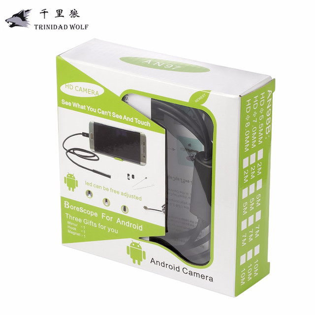 TRINIDAD WOLF 7mm USB Endoscope Android OTG Phone Endoscopio Mini Endoscope Camera Waterproof Inspection Camera For Sumsung