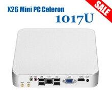 XCY Мини-ПК Окна 10 Celeron 1017U двухъядерные мини настольных ПК 4 ГБ Оперативная память 120 ГБ SSD HTPC неттоп HDMI VGA Dual экрана Wi-Fi ТВ коробка
