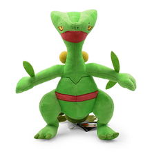 34CM Sceptile Plush Toys Soft Children Gift