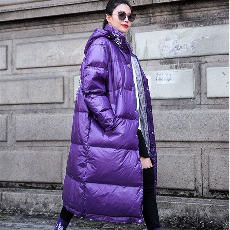 Section Purple Lâche Hjb385 Manteau Genou Épaississement Femme 2018 Longue Le Capuchon Nouvelle Coton À Hiver En Vêtements Bf Sur tx1nBwZTqU