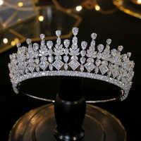 Accessori per capelli da sposa zircone diademi da sposa gioielli da sposa regalo del partito dei monili DELLA CZ corona di cristallo della fascia copricapo