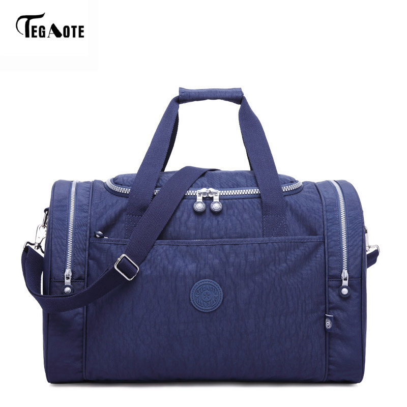 TEGAOTE Fashion Men's Waterproof Travel Bag Large Capacity Trip Bag Women Nylon Luggage Travel Duffle Handbags Unisex