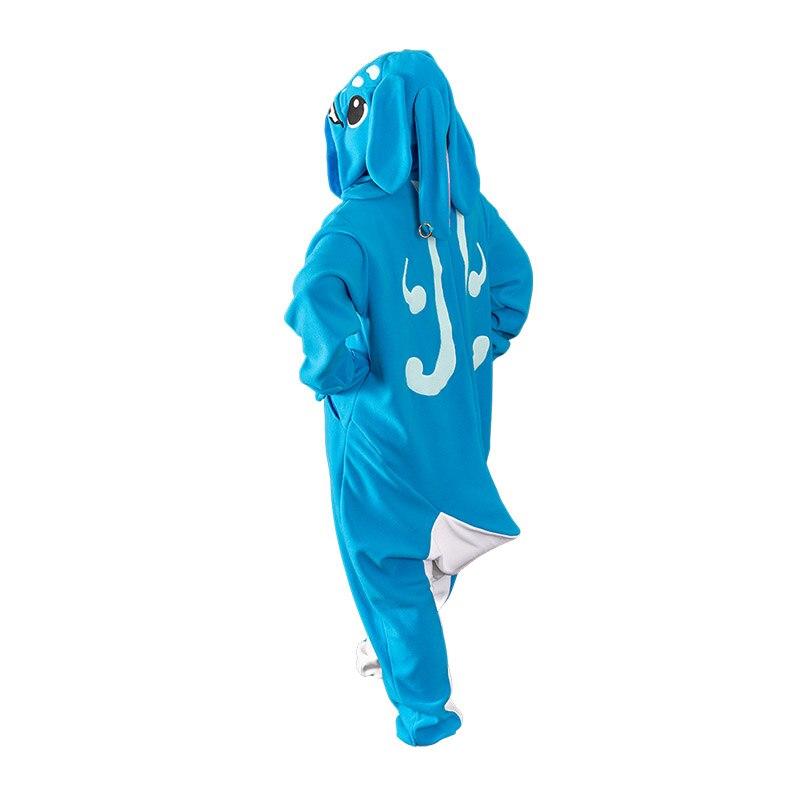 Mujeres Cosplay Fizz disfraz de pijama azul pijama con orejas grandes Kawaii The Tidal Trickster ropa de dormir cremallera pijama talla única hombres - 2