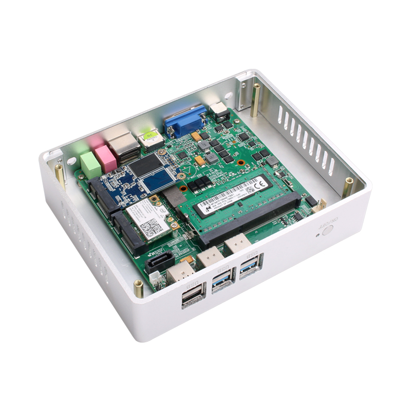 Fanless Mini PC for Windows with Dual Output Display and WiFi 4