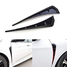 1 Pair High Quality ABS Type R Side Fender Vent Air Wing Cover Trim Decorative Sticker