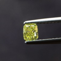 0.45ct форма подушки натуральный желтый алмаз драгоценные камни свободные камни Сыпучие камни