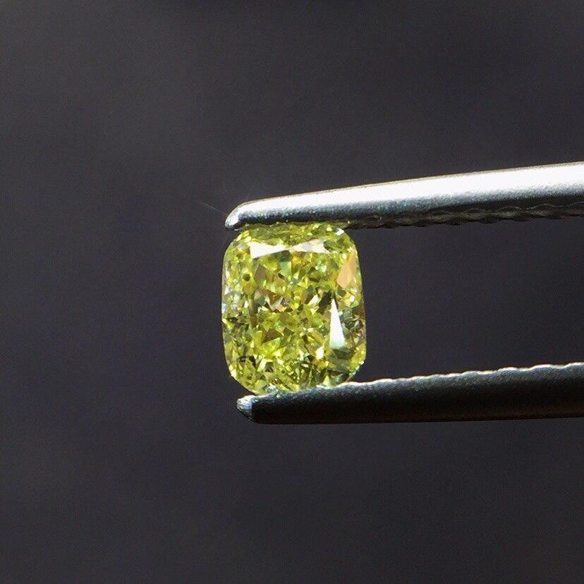 0.45ct coussin forme diamant jaune naturel pierres précieuses en vrac pierres précieuses en vrac