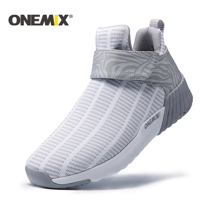 ONEMIX femmes chaussures de course hauteur chaude augmentant chaussures hiver hommes et femme chaussures de Sport en plein air unisexe chaussures de Sport athlétique hommes