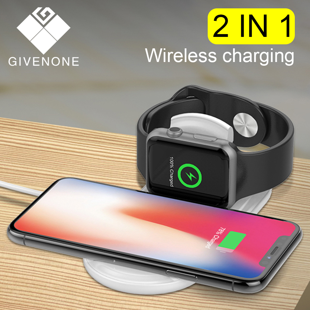 GIVENONE 10 W Wireless Charger for iPhone X XR XS Max Apple I Watch 4 3 2 1 fast charging for samsung S7 S8 S9 S10 plus Note 8 9GIVENONE 10 W Wireless Charger for iPhone X XR XS Max Apple I Watch 4 3 2 1 fast charging for samsung S7 S8 S9 S10 plus Note 8 9