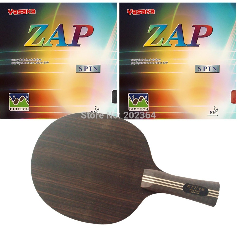 KTL King Kong Table Tennis Blade With 2x Yasaka ZAP SPIN BIOTECH NO ITTF Rubbers With Sponge for PingPong Racket FL насадка для чувствительной кожи philips sc5991 10