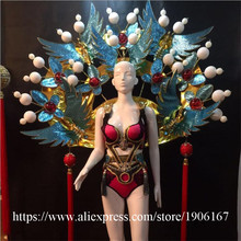 Chinese Style Secret Model Catwalk Clothing Stage Show Performance Ballroom Costume Sexy Lady Evening Party Dress