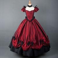 Gothnic Lolita Gown Vampire Gothic Victorian Dress steampunk dress Medieval Halloween Costume women summer style prom Dress