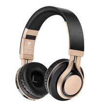 Smart Bluetooth headsets super bass stereo noise reduction support memory card wireless+wired freely switched foldable headphone
