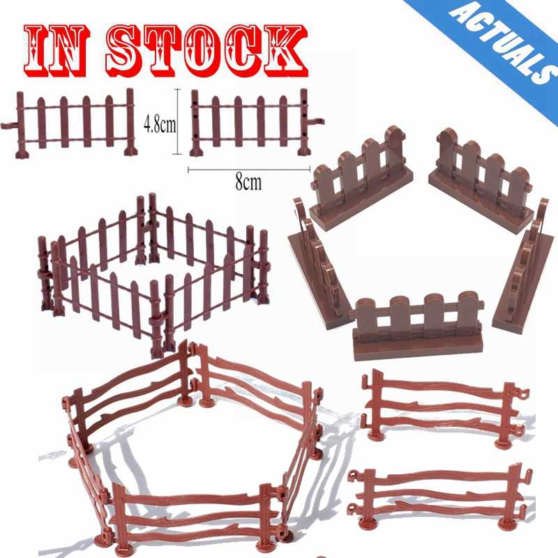 Creator City Animal Fence Guardrail Bricks Firefighting Accessories Parts Figures Kids DIY Blocks Toys Set Gifts Legoings Cities