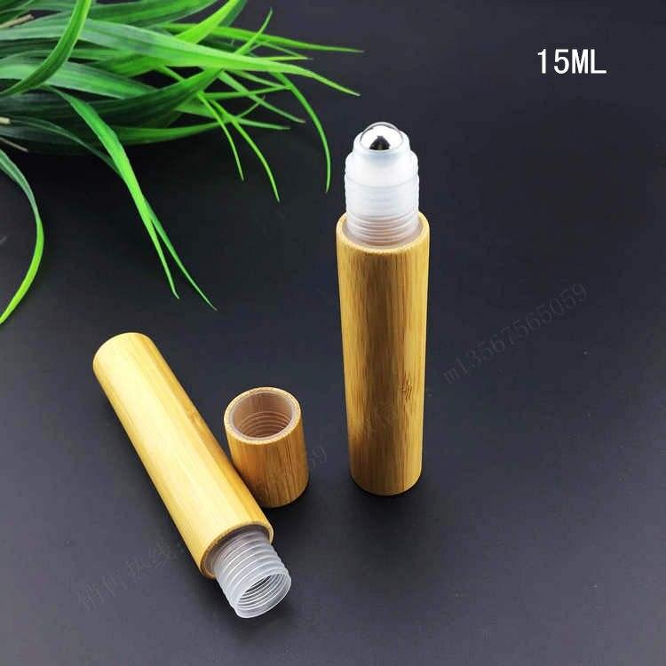 15มิลลิลิตรไม้ไผ่ม้วนบนขวด/พลาสติกหรือstellบอลลูกกลิ้งขวด/โลชั่นขวดเครื่องสำอางสำหรับน้ำหอม,น้ำมัน-ใน ขวดรีฟิล จาก ความงามและสุขภาพ บน   1