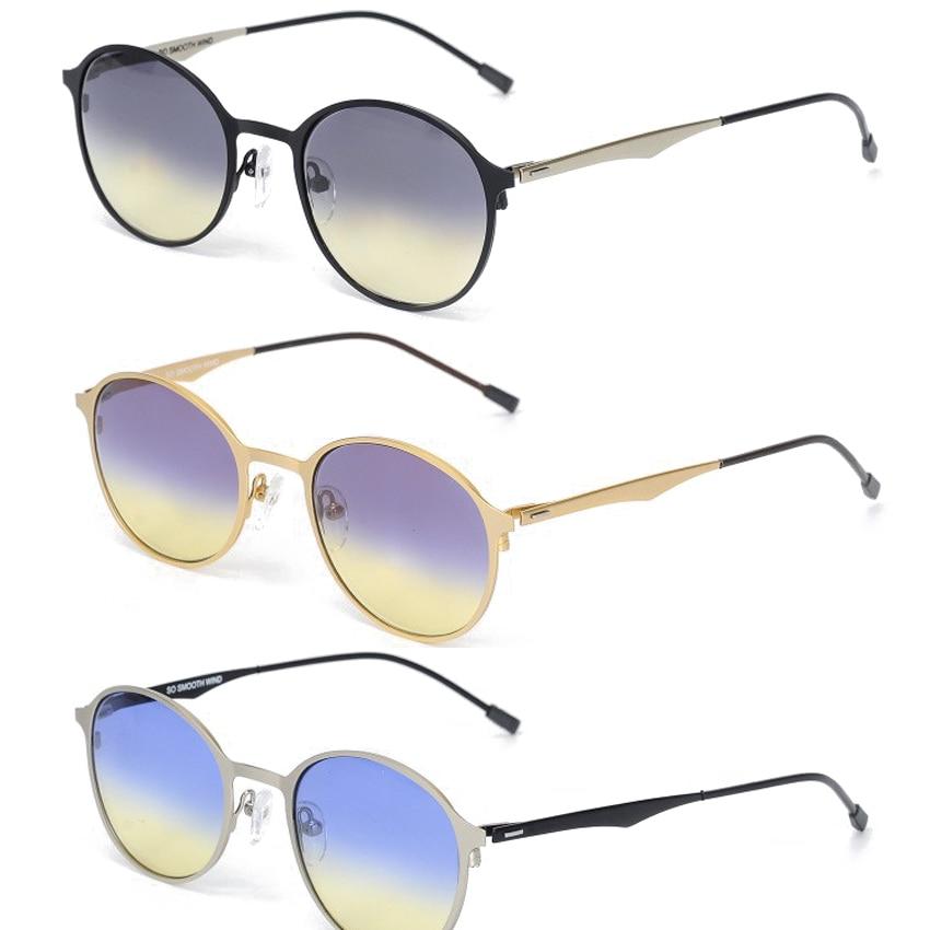 2019 Alloy Vintage Runde Sonnenbrille Männer Outdoor Reisen Frauen - Bekleidungszubehör - Foto 1