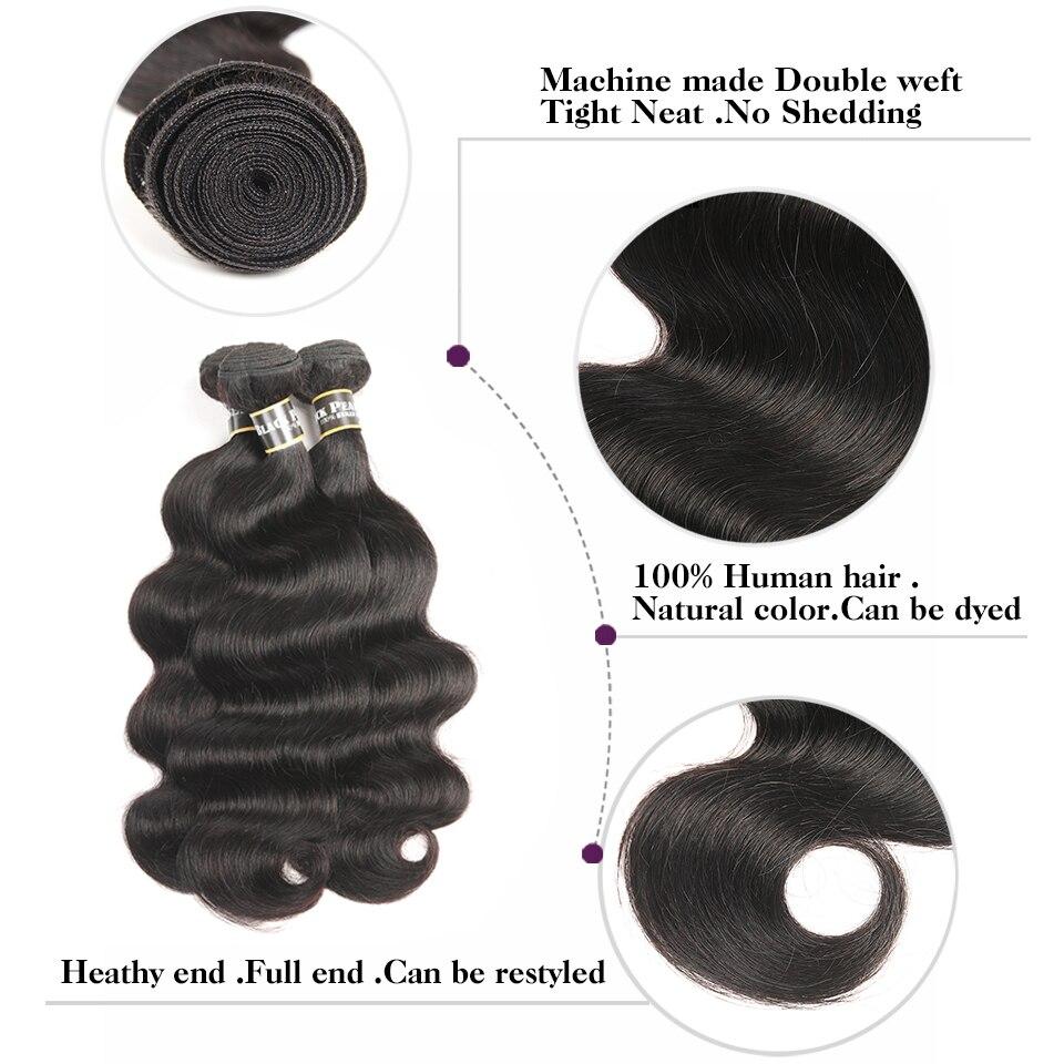 Black Pearl Peruvian Body Wave Hair Extensions 100% Non-Remy Human - Skönhet och hälsa - Foto 3