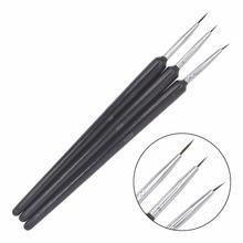 3PCS/1Set Kolinsky Acrylic Nail Brush Professional Brushes Tools Fashion Art for Manicure 14
