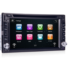100% New universal Car Radio Double 2 din Car DVD Player GPS Navigation In dash Car PC Stereo video steering wheel +Free 8G Map