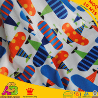 New Cartoon Airplane Printed 100 Cotton Fabric For Baby Bedding Home Textile Sewing Upholstery Fabric
