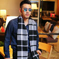 2017 Sale Real Adult Scarf Men The Winter Men's Plaid Scarf Cashmere Korean Thickened Autumn Female Tassel Long Knitting Shawl