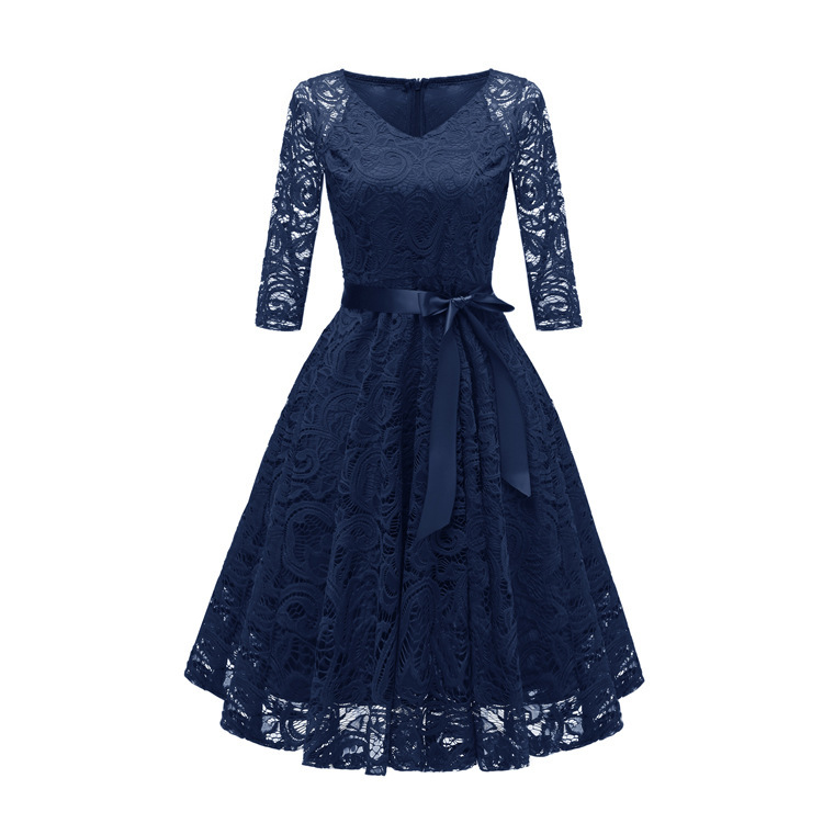 Image 5 - Autumn Homecoming Dresses CG00116 New Arrival Winter Lace A line V neck Cheap Short Cocktail Party Dresses with SleevesHomecoming Dresses   -