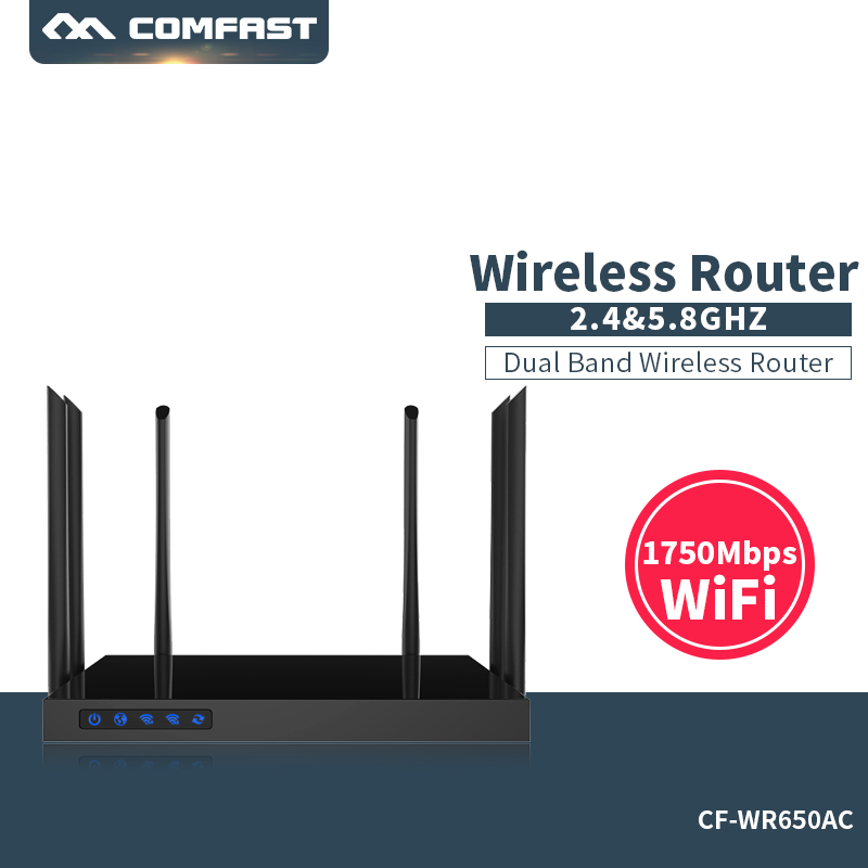Comfast 1750Mbps WIFI Router 2.4G+5.8G Enginering Manage router CF-WR650AC 1 Wan 4 Lan 802.11ac access point wifi router 1750mbps 2 4g 5 8g dual band ac wifi router enginering ac manage1wan 4lan 802 11ac access point wi fi router comfast cf wr650ac