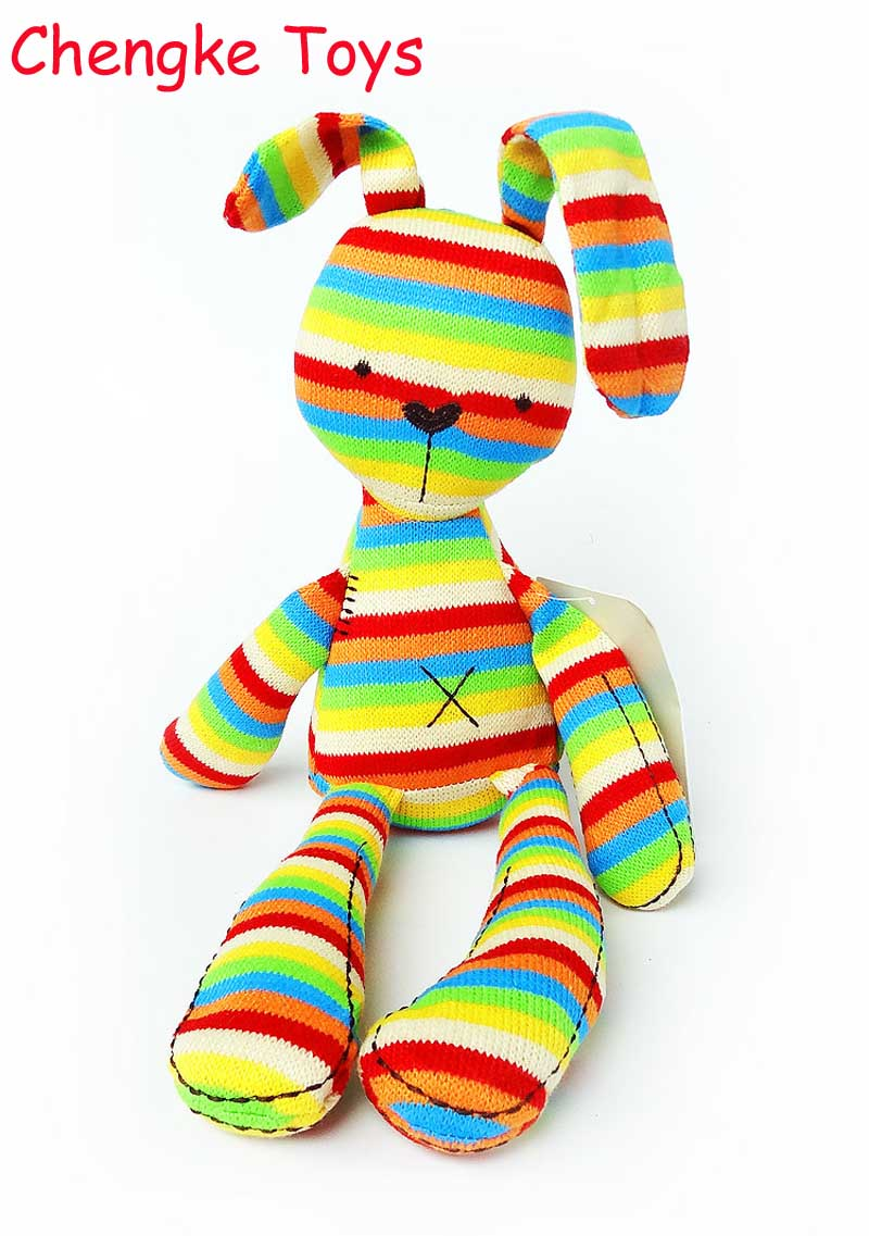 40CM Rainbow Rabbit With Tags Mamas & Papas Iridescent Baby Bunny For Baby Figures Plush Toys Mamas And Papas Rabbit For Kids the mamas