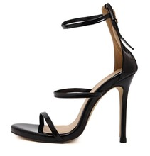 black nude wedding bridal bridesmaid prom formal party clubwear shoes open toe women ankle strap strappy patent leather sandals
