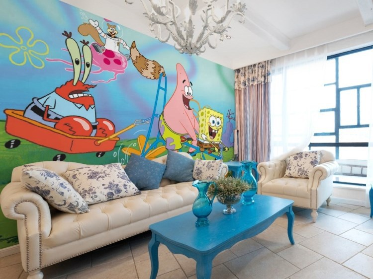compare prices on spongebob vinyl online shopping buy low spongebob squarepants mural kester hackney