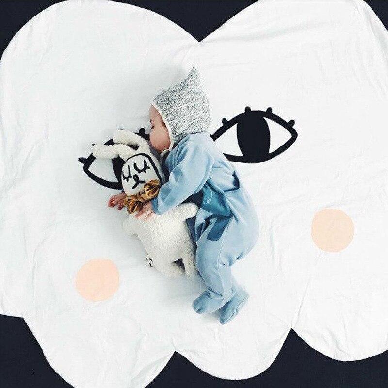 Cartoon Lächeln Wolke Babydecke Baumwolle Swaddle Me Crawling Pad - Haustextilien - Foto 5