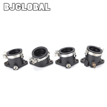 Motorcycle 4 PCS Carburetor Adapter Inlet Intake Pipe Rubber Mat For Honda CBX400 Interface Manifold Motor Accessories Dirt Bike стоимость