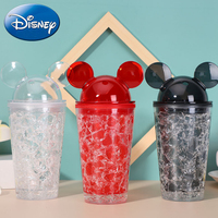 Disney Kids Baby Water Bottle Mickey Minnie Water Cups Children Baby Portable Feeding Bottle Leak Proof Durable Sport Cup 450ML