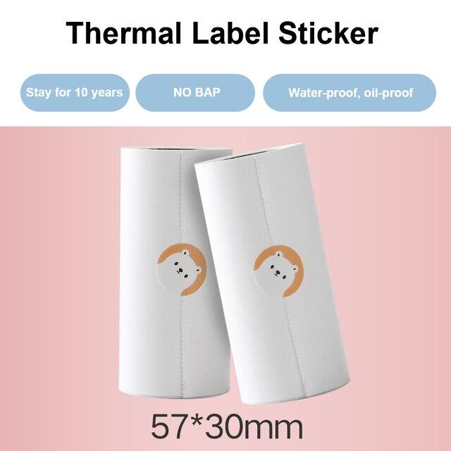 Papel de recepción de etiquetas de papel fotográfico térmico ISSYZONEPOS para administración de Mini impresora IMP028 (tres rollos por paquete)