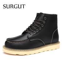 Waterproof Men S Ankle Boots Winter Warm Martin Boots For Man Fashion Snow Fur Boots Mens