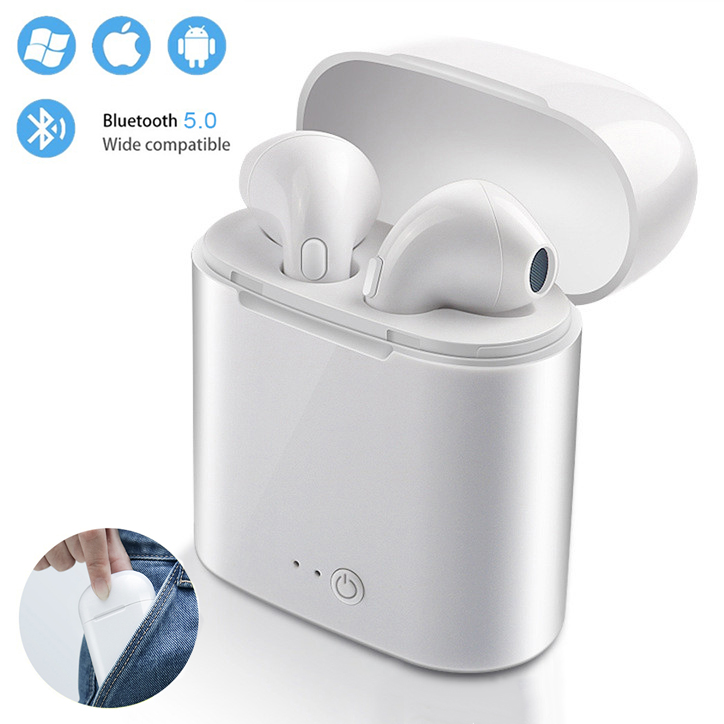 I7s TWS mini wireless Bluetooth headset stereo earbuds sports headphones for Android Iphone smart phone headset charging boxI7s TWS mini wireless Bluetooth headset stereo earbuds sports headphones for Android Iphone smart phone headset charging box