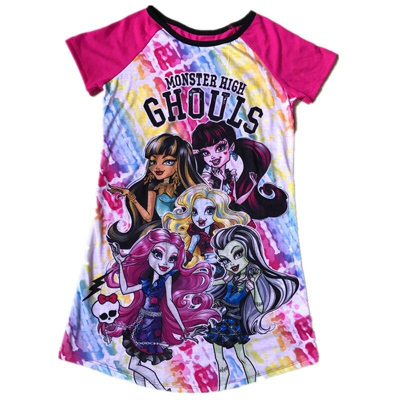 2018 Letní Monster Dívky šaty Děti Princezna Party šaty Dětské oblečení Ever After Dress Dívky Kostým Narozeniny Oblečení