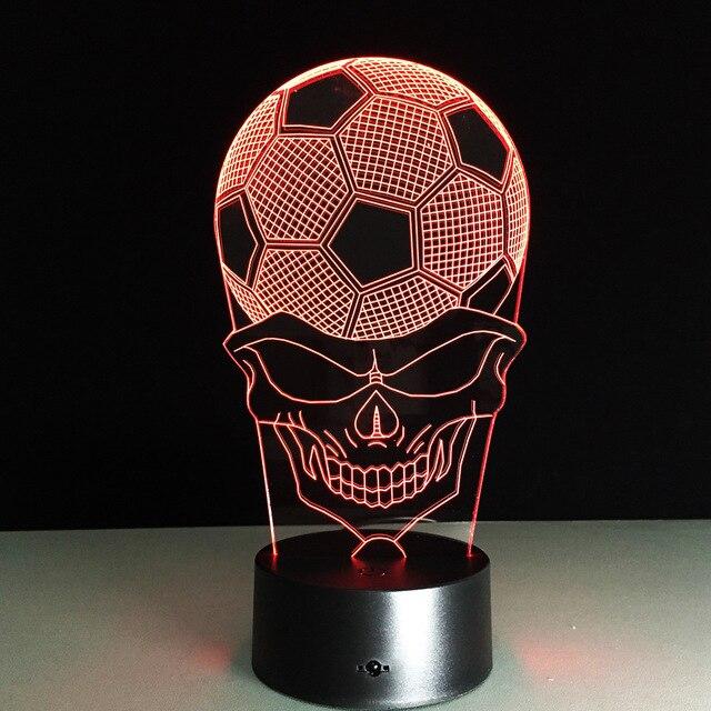 Упаковка из 40 шт. Футбол рамка Сенсорный экран 3D иллюзия Светодиодная вспышка света игрушка в подарок в коробке через DHL