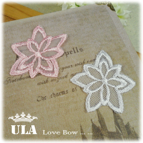 Wholesale applique flower design DIY Decoration Lace Fabric Paste Decoraive Cloth Paste Lace Applique 200pcs/lot